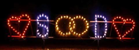 Lichterbild Ringe und Herzen zum Hochzeitsfeuerwerk von Event Pyrotechnik Kulmbach